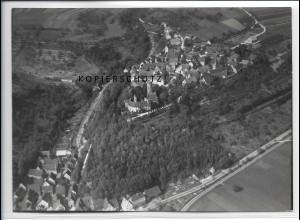ZZ-4115/ Krautheim Foto seltenes Luftbild 1937 18 x 13 cm
