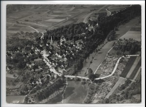 ZZ-4123/ Jagsthausen Foto seltenes Luftbild 1937 18 x 13 cm