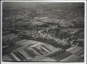 ZZ-4077/ Flein bei Heilbronn Foto seltenes Luftbild 1936 18 x 13 cm
