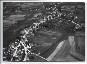 ZZ-4075/ Unterdeufstetten b. Fichtenau Foto seltenes Luftbild 1938 18 x 13 cm