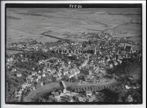ZZ-5277/ Crailsheim Foto seltenes Luftbild 18 x 13 cm ca.1938