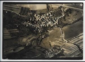 ZZ-4132/ Scheppach u. Adolzfurt Foto seltenes Luftbild ca.1935 18 x 13 cm