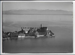 ZZ-4166/ Wasserburg bei Lindau Foto seltenes Luftbild 1935 18 x 13 cm
