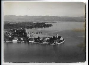 ZZ-4165/ Wasserburg bi Lindau Foto seltenes Luftbild 1935 18 x 13 cm