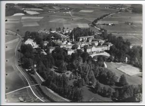 ZZ-4144/ Deggendorf Irrenanstalt Foto seltenes Luftbild 1937 18 x 13 cm