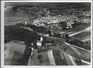 ZZ-4141/ Deggendorf Foto seltenes Luftbild 1937 18 x 13 cm