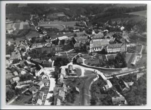 ZZ-4059/ Metten b. Deggendorf Foto seltenes Luftbild 1937 18 x 13 cm