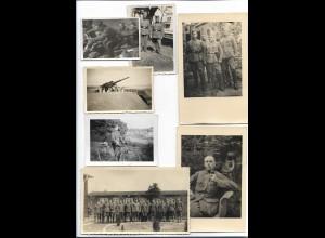 Y18769/ 7 Fotos / AK Soldaten 2.Weltkrieg Militär
