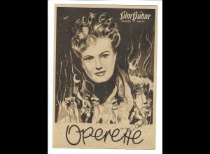 C4198/ Filmprogramm Film-Bühne Nr.21 Operette Maria Holst, Willi Forst ca.1940