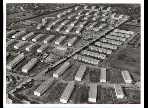 C4154/ Hamburg Farmsen Siedlung Luftaufnahme 60er 24 x 18 cm