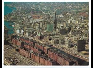 C4192/ Hamburg Hafen Speicherstadt Freihafen Luftaufnahme 1969 24 x 18 cm