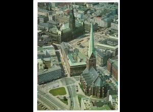 C4184/ Hamburg Petri-Kirche, Rathaus Luftaufnahme 1969 24 x 18 cm