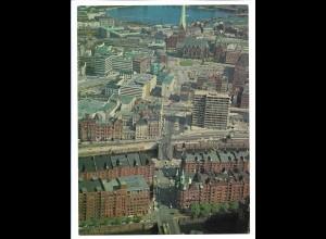 C4183/ Hamburg Speicherstadt , City Luftaufnahme 1969 24 x 18 cm