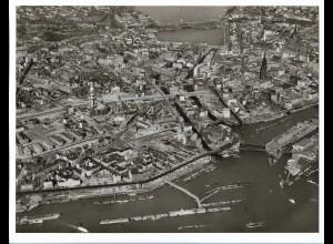 C4168/ Hamburg Hafen City Luftaufnahme 60er 24 x 18 cm