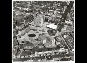 C4144/ Hamburg Bornpark Universität Rotherbaum Luftaufnahme 1963 21 x 21 cm