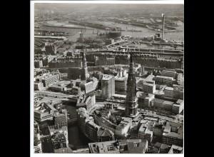 C4116/ Hamburg St. Nikolai, Ost-West-Str., Hafen Luftaufnahme 1964 21 x 21 cm