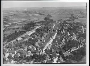 ZZ-5280/ Großgartach b. Leiningen Foto seltenes Luftbild 18 x 13 cm ca.1938