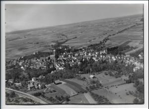 ZZ-5123/ Schluchtern Leingarten Foto seltenes Luftbild ca. 1935 18 x 8,5 cm