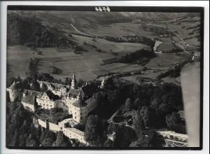 ZZ-5473/ Langenburg Schloß seltenes Foto Luftbild 18 x 13 cm