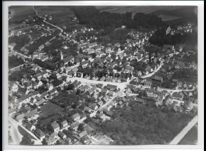 ZZ-4436/ Illertissen Foto seltenes Luftbild 1937 18 x 13 cm