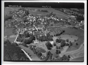 ZZ-4430/ Irsee bei Kaufbeuren Foto seltenes Luftbild 1938 18 x 13 cm