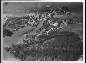 ZZ-4425/ Kirchhaslach Foto seltenes Luftbild 1938 18 x 13 cm