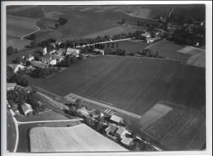 ZZ-4413/ Schmalzmaier b. Pliening München Foto seltenes Luftbild 1938 18 x 13 cm