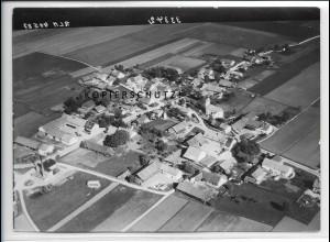ZZ-4412/ Landsham b. Pliening München Foto seltenes Luftbild 1938 18 x 13 cm