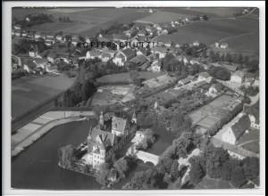 ZZ-4400/ Taufkirchen Foto seltenes Luftbild 1938 18 x 13 cm