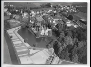 ZZ-4399/ Taufkirchen Foto seltenes Luftbild 1938 18 x 13 cm