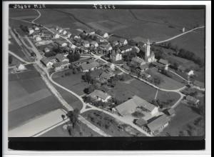 ZZ-4396/ Moosen bei Taufkirchen Foto seltenes Luftbild 1938 18 x 13 cm