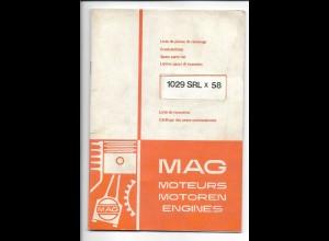 C4223/ MAG Motoren alte Ersatzteilliste 1029 SRL x 58