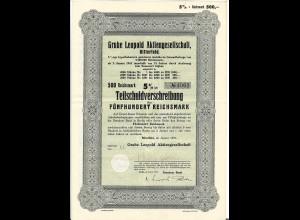 C4227/ Grube Leopold AG Bitterfeld Teilschuldverschreibung 1937 Bergbau
