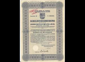 C4229/ Schuldverschreibung Mecklenburg Schwerin 1929 100 Reichsmark