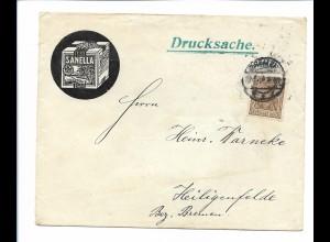 C4294/ Brief Sanella Margarine Butter H. Schröder, Bremen 1914
