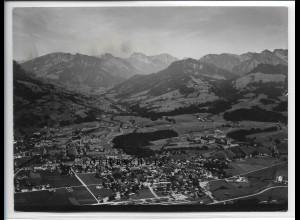 ZZ-4521/ Sonthofen Foto seltenes Luftbild ca.1938 18 x 13 cm
