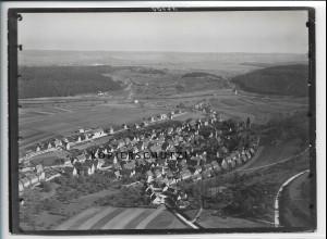 ZZ-5215/ Aidlingen Foto seltenes Luftbild 18 x 13 cm ca.1938