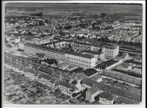 ZZ-4537/ Kornwestheim Schuhfabrik Salamander Foto seltenes Luftbild 1936 18x13cm