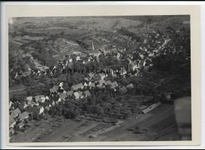 ZZ-4538/ Mühlhausen bei Wiesloch Foto seltenes Luftbild ca.1935 18 x 13 cm