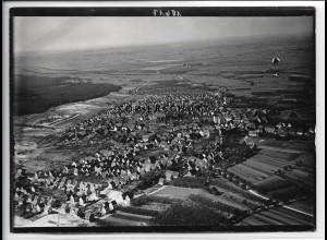 ZZ-4540/ Sandhausen bei Wiesloch Foto seltenes Luftbild ca.1938 18 x 13 cm