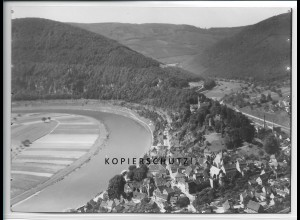ZZ-4542/ Neckarsteinach Foto seltenes Luftbild ca.1936 18 x 13 cm