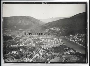 ZZ-4544/ Neckargemünd Foto seltenes Luftbild 1935 18 x 13 cm