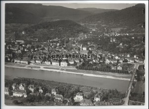ZZ-4548/ Eberbach am Neckar Foto seltenes Luftbild ca.1936 18 x 13 cm