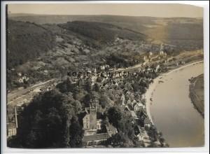 ZZ-4552/ Neckarsteinach Foto seltenes Luftbild 1935 18 x 13 cm