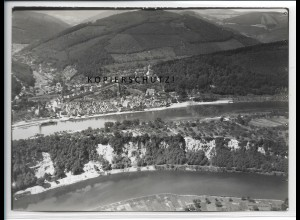 ZZ-4553/ Hirschhorn Neckar Foto seltenes Luftbild ca.1935 18 x 13 cm