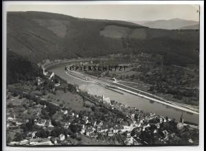 ZZ-4554/ Hirschhorn Neckar Foto seltenes Luftbild ca.1935 18 x 13 cm