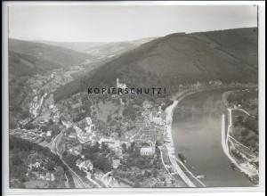 ZZ-4555/ Hirschhorn Neckar Foto seltenes Luftbild ca.1935 18 x 13 cm