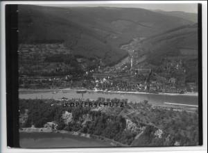 ZZ-4556/ Hirschhorn Neckar Foto seltenes Luftbild 1936 18 x 13 cm