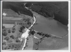 ZZ-4612/ Fornsbach b. Murrhardt Freibad Foto seltenes Luftbild 1938 18 x 13 cm