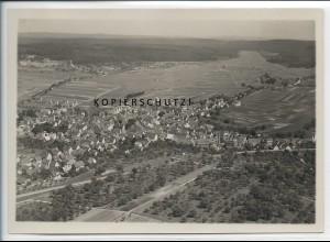 ZZ-4611/ Magstadt Foto seltenes Luftbild ca.1935 18 x 13 cm